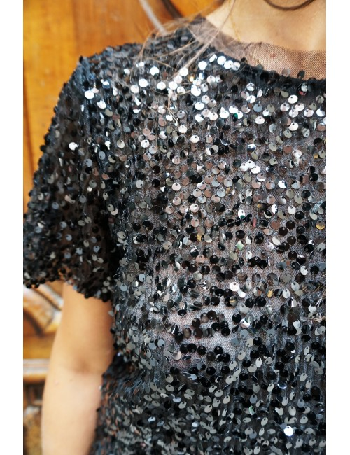 T SHIRT PAILLETTES SOIREE