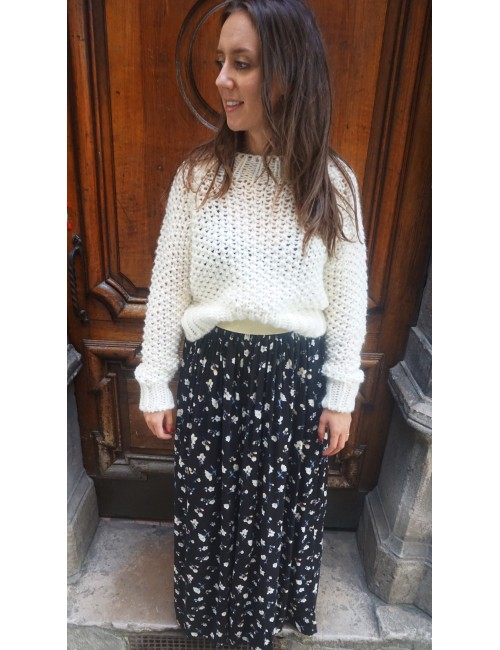 PULL BLANC MAILLE COURT