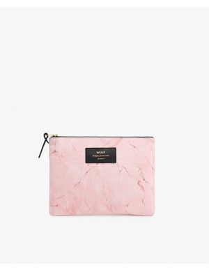 POCHETTE LARGE PINK MARBLE
