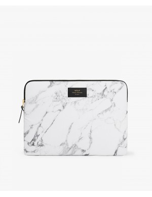 POCH MACBOOK 13 WHITE MARBLE
