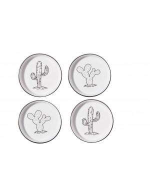 SET 4  COUPELLES CACTUS