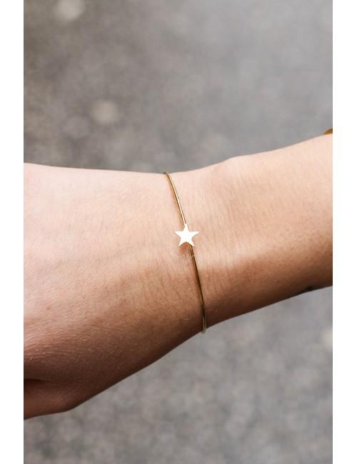 Jonc dorée étoile