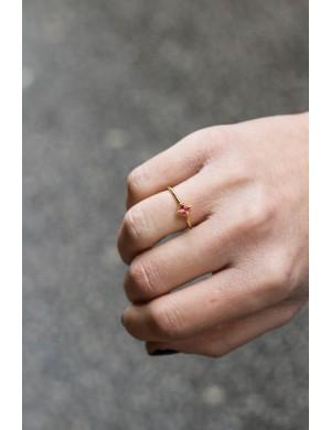 Bague mini pierre rose